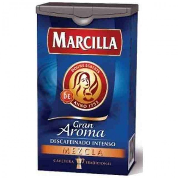 Ground decaffeinated blend Coffee Marcilla 200 Grs