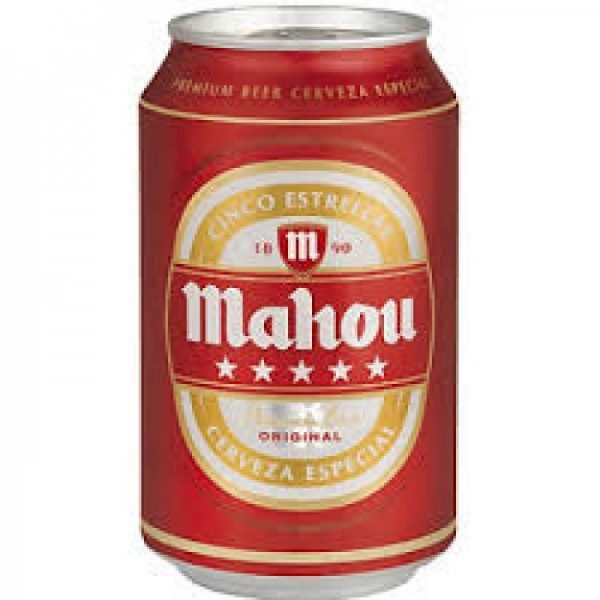 Mahou beer 33cl 5 stars pack-24