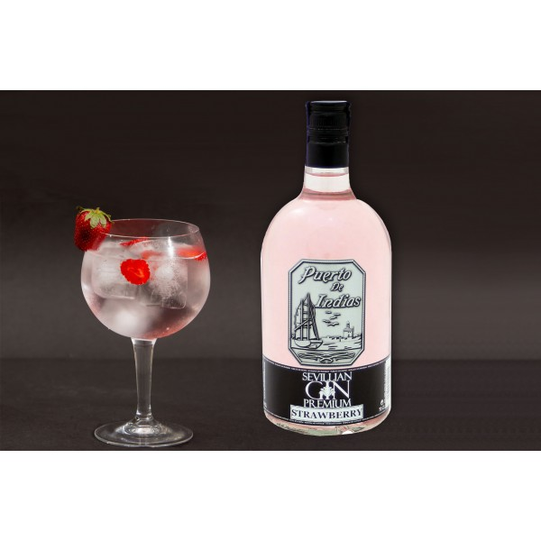 Gin Puerto Indias Strawberry 70Cl 37,5º
