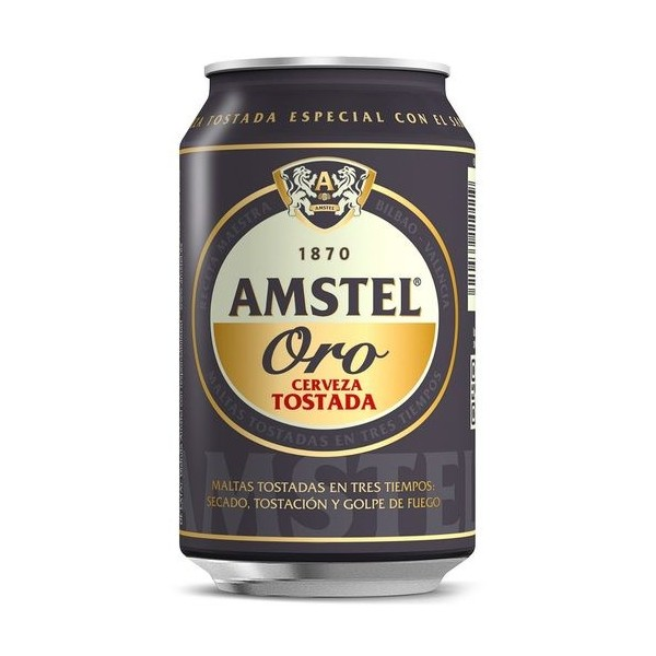 Bier Amstel Oro Gold 33 Cl 6,20º Packung 24