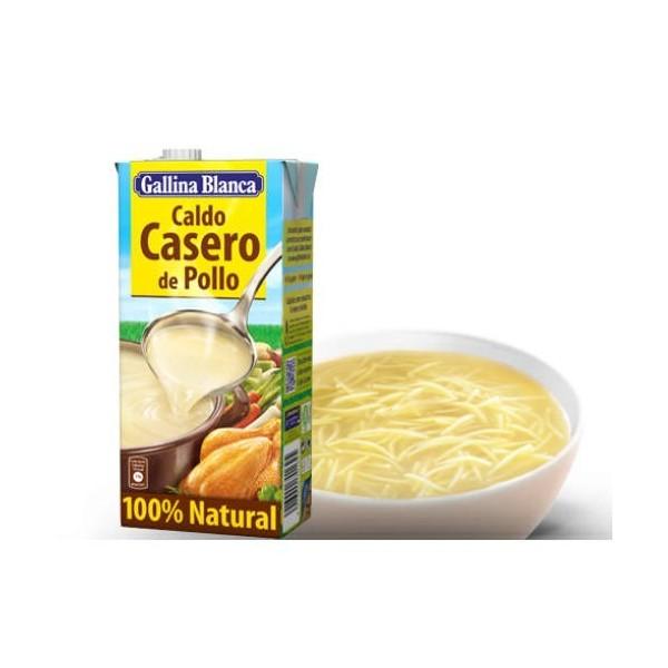 100% Natural Chicken Broth 1 liter Brik - Gallina Blanca
