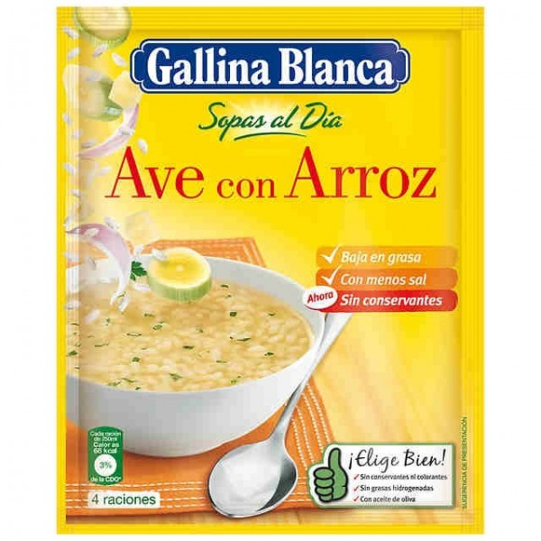 Birds Soup With Rice - Gallina Blanca