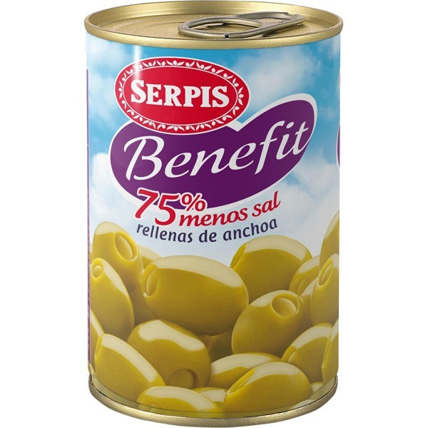 Anchovy Stuffed Olives Benefit Serpis 300 Gr