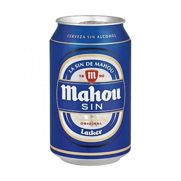 Cerveza Mahou sin 33CL bote pack 24