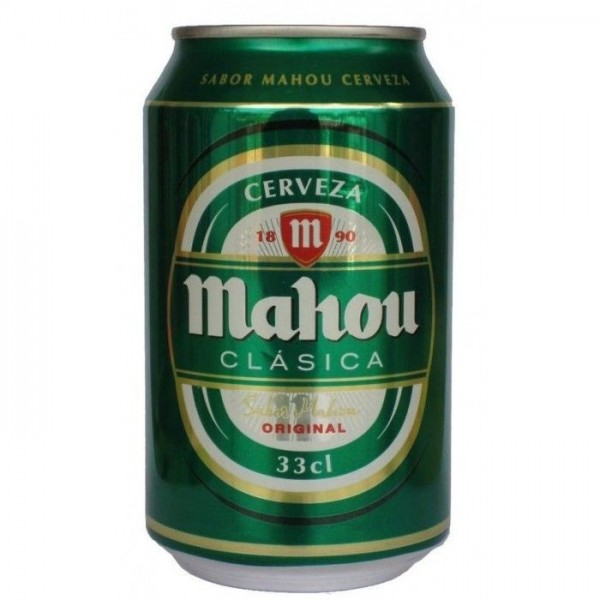 Mahou clasica 4.8º beer 33cl pack 24