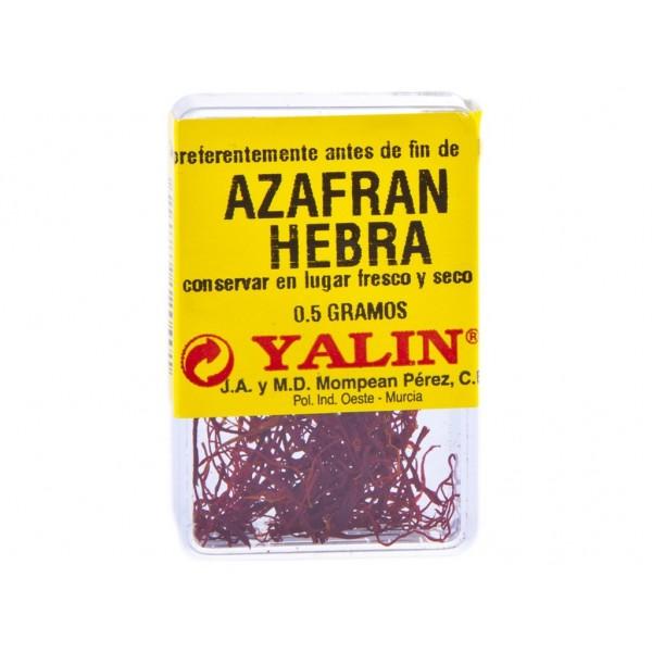Especias Yalin Azafran Pelo Cajita 0.5 Gr