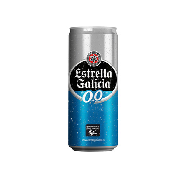 Alcoholvrij bier Estrella Galicia 0,0 33Cl pack 24