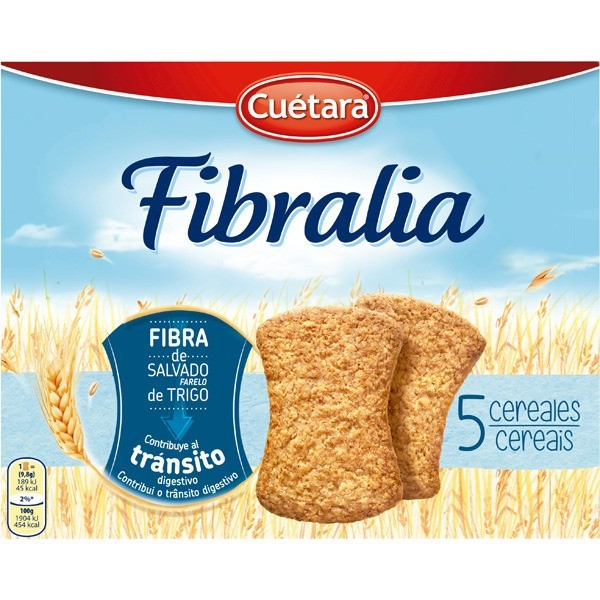 Biscuits Cuetara Fibralia 5 Cereals 500 Grs