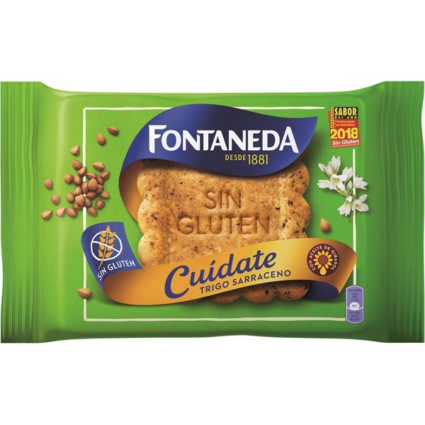 Biscuits Fontaneda Cuidate Sin Gluten 240 G