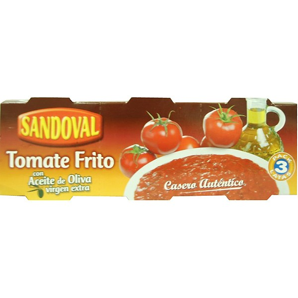 Tomate Frito Sandoval 220 Grs Pack-3