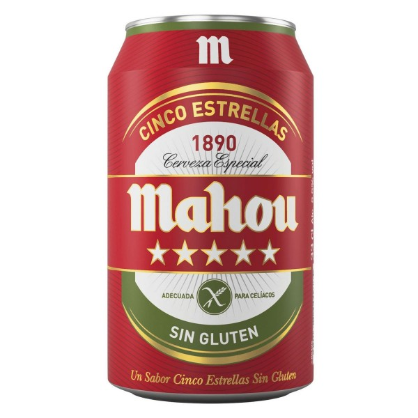 Mahou Beer 5 étoiles sans gluten Pack 24