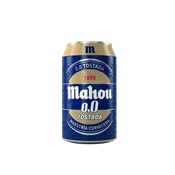 Cerveza Sin Alcohol Mahou 0,0% Tostada 33 Cl Pack 24