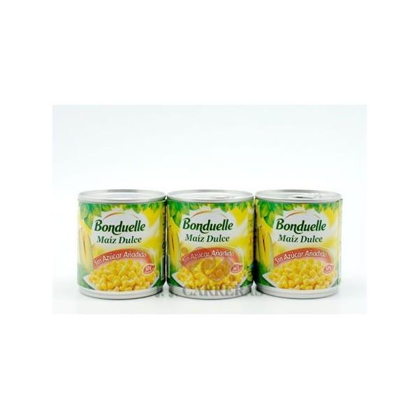 Sweet corn PACK-3 BONDUELLE 3X150 GRS