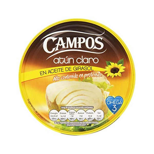 Canned yellowfin tuna Campos 1 Kgr