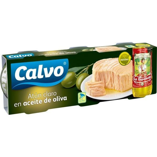 Canned Tuna in oil La Española Calvo Ro-100 Pk-3
