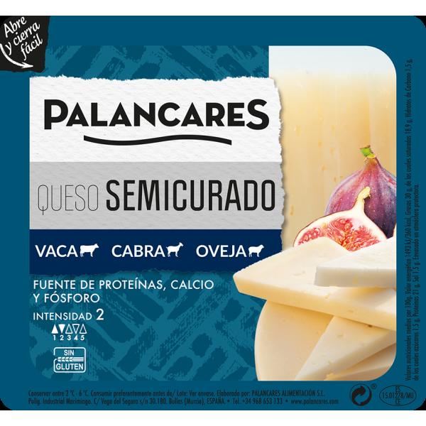 Queso semi curado mixto Palancares 200 gr Sin Gluten