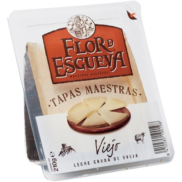 Sliced Spanish cheese Tapas Maestras Flor de Esgueva 210 gr