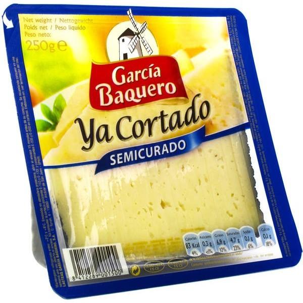Ziegenkäse in Scheiben geschnitten Ya Cortado Garcia Baquero 250 gr Glutenfrei