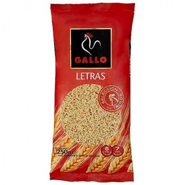 Pasta Letters 250 Grs - Gallo