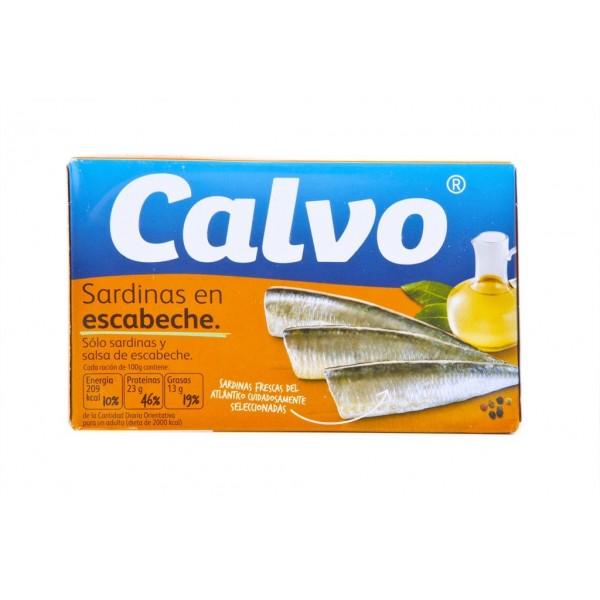 Sardines escabeche sauce 120 Grs - Calvo