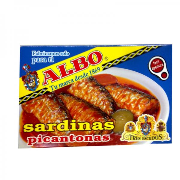 Spicy sardines Picantonas 120 Grs Albo
