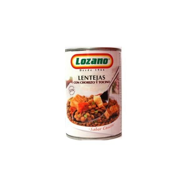 Lentils with chorizo 400Gr - Lozano