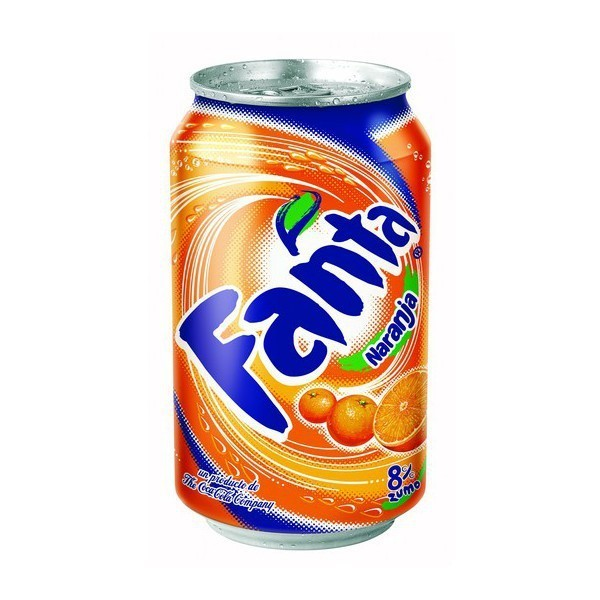 Orange Fanta can 33 Cl pack 24