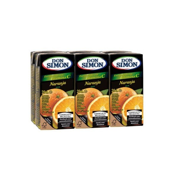 Orange juice Mini Brik P-6 Don Simon