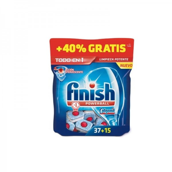 Finish Tablets for dishwashers All in 1 37 Units + 40%