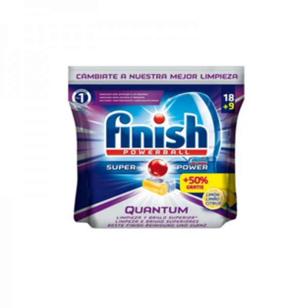 Finish Quantum - Tablets for dishwashers 18 Units + 50%