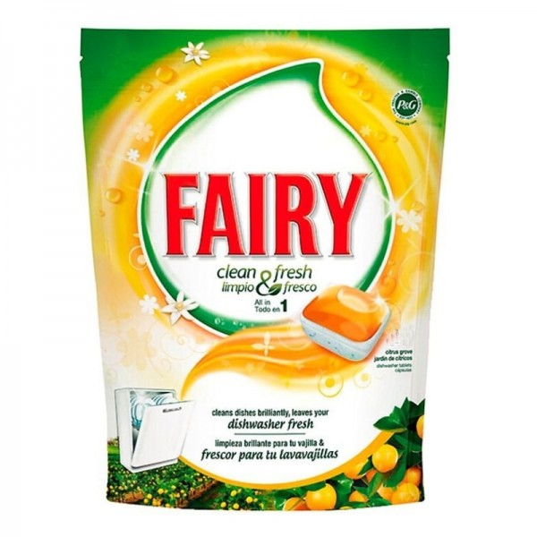 Fairy Dishwashers Clean and Fresh orange 25 pods + 6 Free